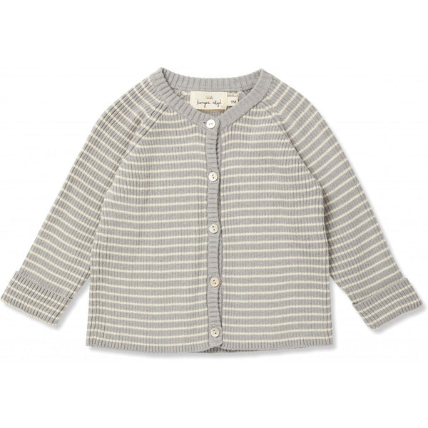 Meo Cardigan - Powder Blue/Off-White