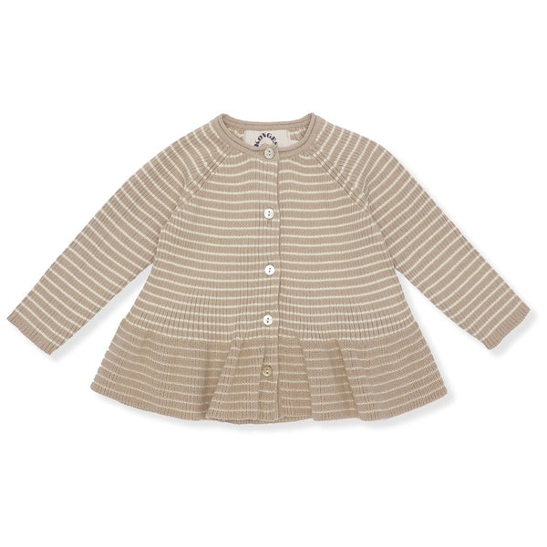 Meo Frill Cardigan - Moonlight/Off-White