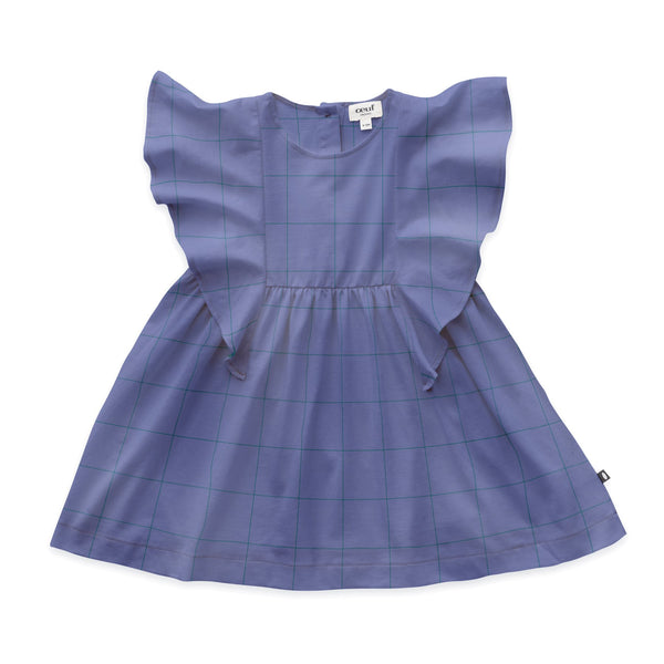 Ruffle Sleeve Dress - Iris
