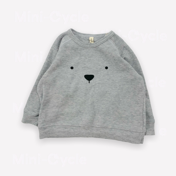 Re-Cycle Grey Jersey BEAR Sweatshirt