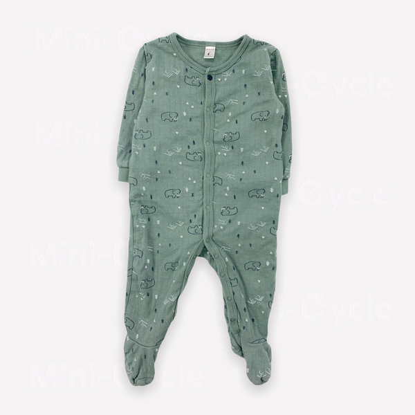 Re-Cycle Patterned Green  Footed Pyjama