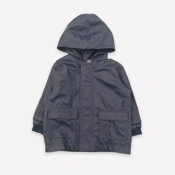 Re-Cycle Solid Navy Raincoat