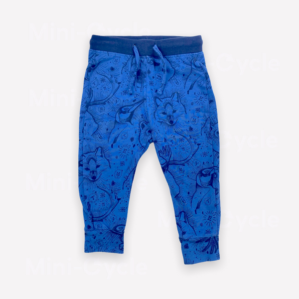 Re-Cycle Patterned Blue Sweatpants