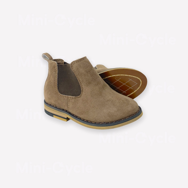 Re-Cycle Solid Brown Suede Booties