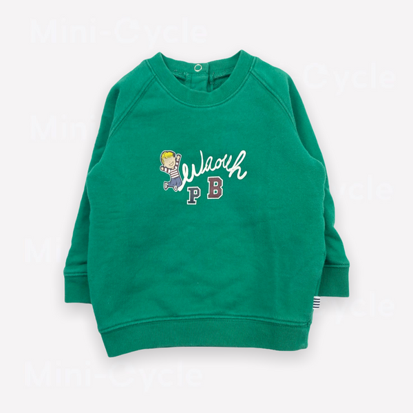 Re-Cycle Graphic Green Sweatshirt