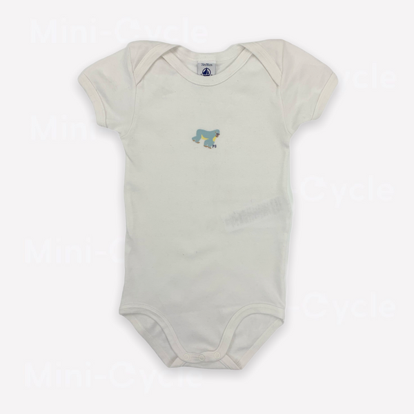 Re-Cycle Graphic White Short-Sleeve Onesie