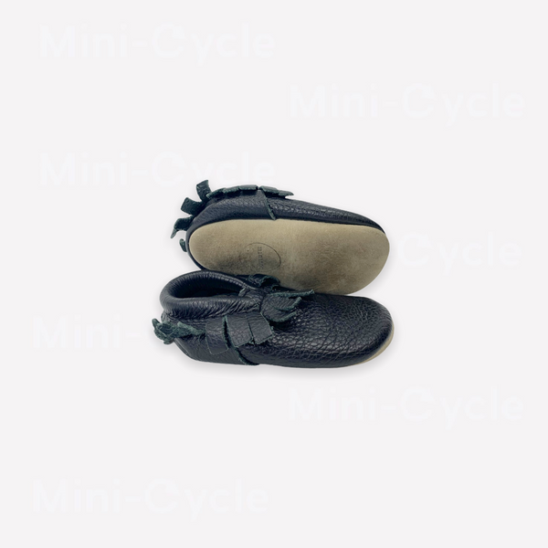 Re-Cycle Solid Black Moccasin