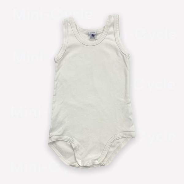 Re-Cycle Solid White Sleeveless Onesie