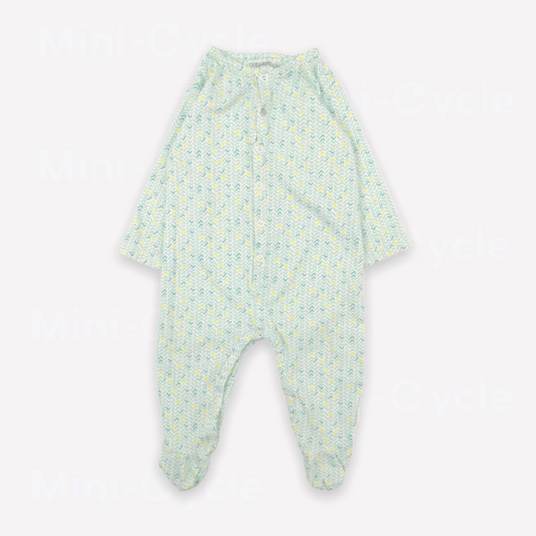 Re-Cycle Patterned Turquoise  Footed Pyjama
