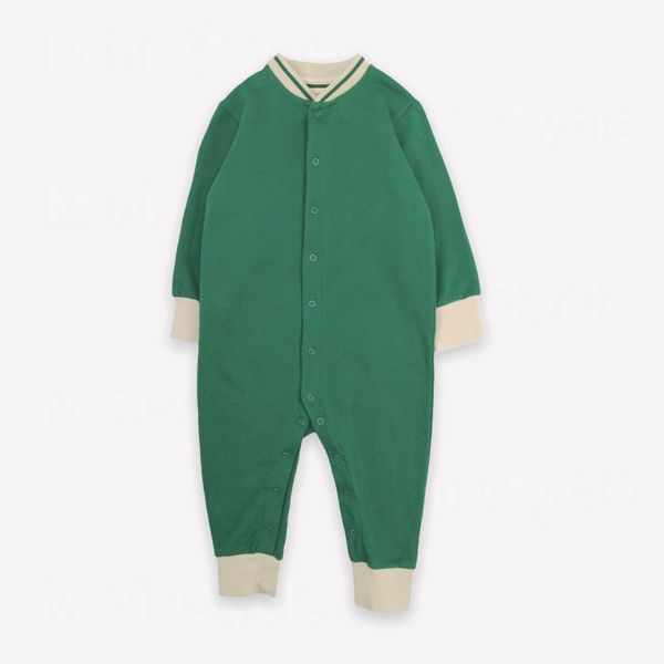 Re-Cycle Solid Green Romper