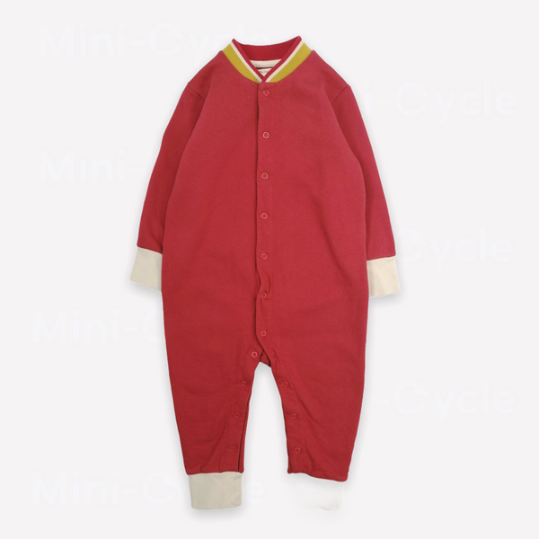 Re-Cycle Solid Red Romper