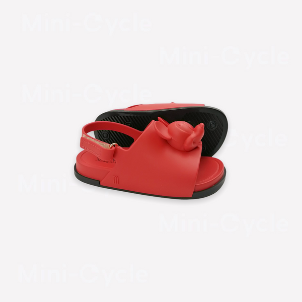 Re-Cycle Solid Red Mickey and Minnie Sandals