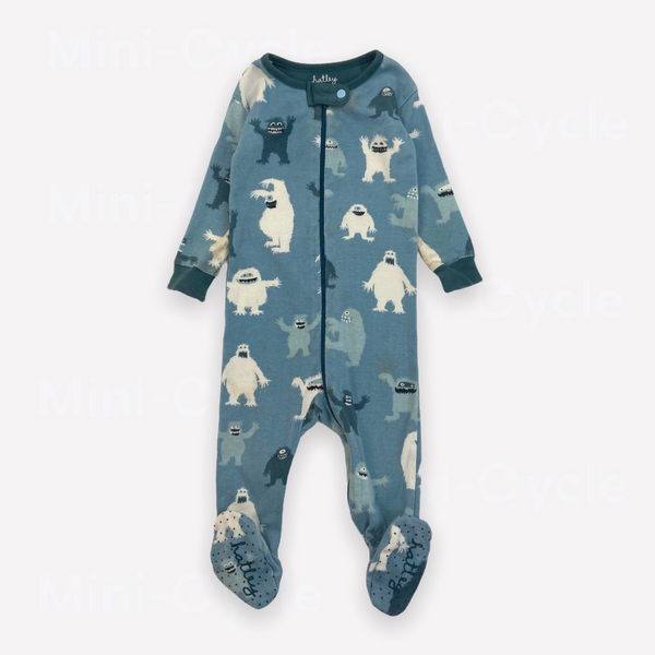 Re-Cycle Patterned Blue  Footed Pyjama