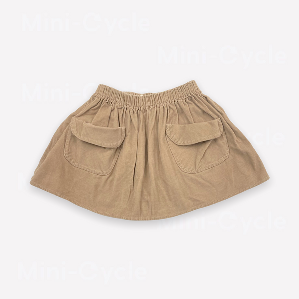 Re-Cycle Solid Taupe Corduroy Skirt