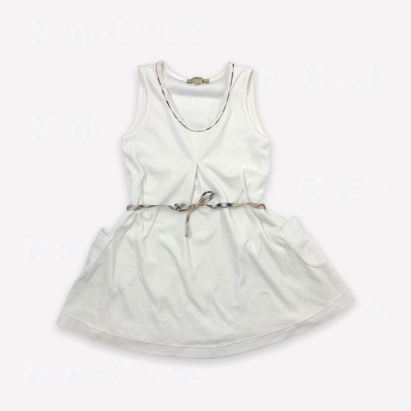 Re-Cycle Solid White Dress