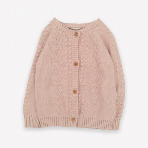 Re-Cycle Embroidered Ballet Pink Cardigan