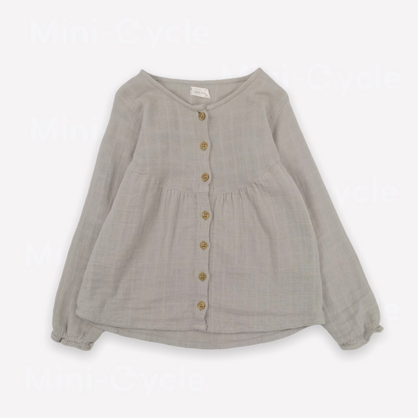 Re-Cycle Marled Grey Muslin Blouse