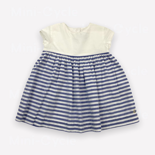Re-Cycle Striped Blue Dress