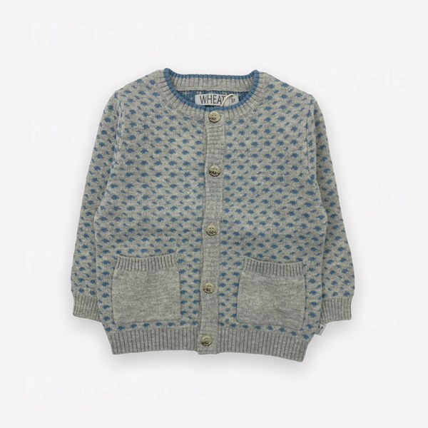 Re-Cycle Patterned Grey Cardigan