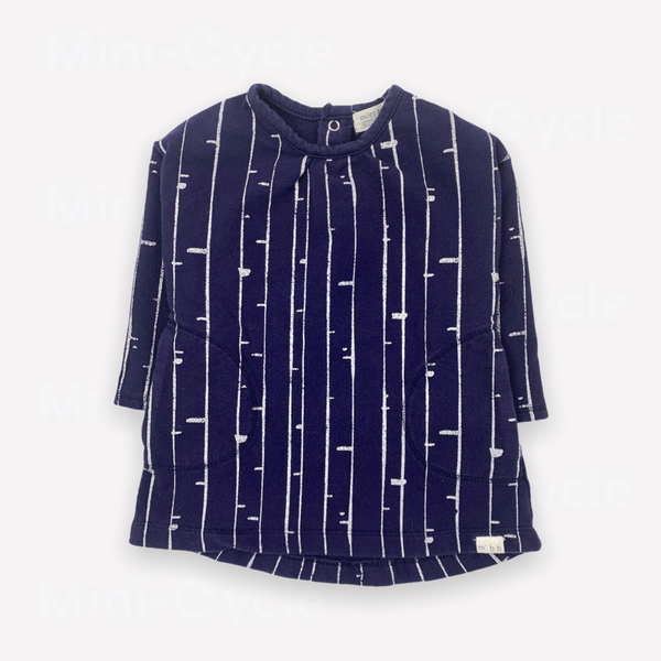 Re-Cycle Patterned Navy Tunic