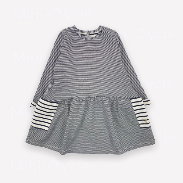 Re-Cycle Striped Navy Dress