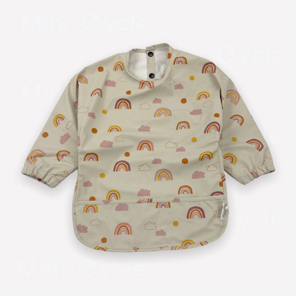 Re-Cycle Patterned Beige Bib