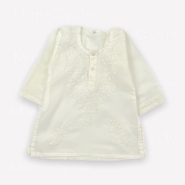 Re-Cycle Embroidered White Blouse