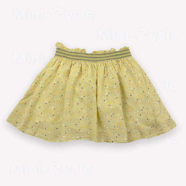 Re-Cycle Polka Dot Yellow Skirt