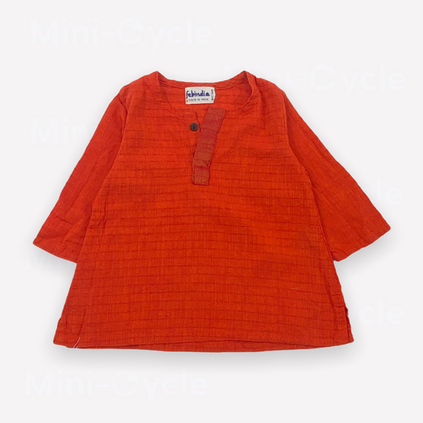 Re-Cycle Solid Red Blouse