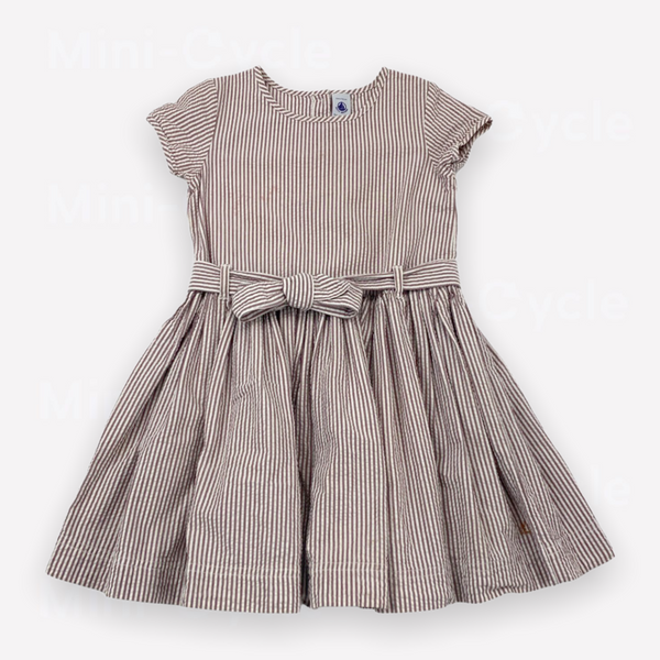 Re-Cycle Striped Purple Dress