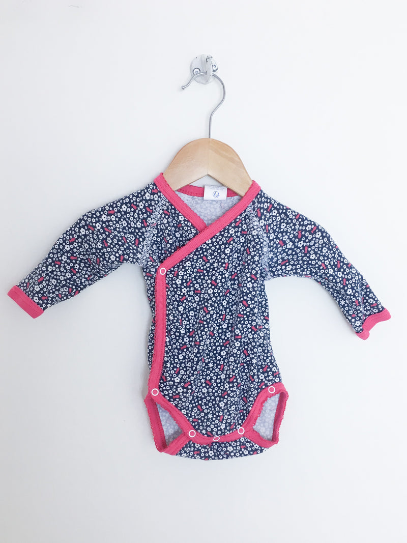 Absorba Bodysuit 3m / Gently Used Re-Cycle Long-Sleeve Baby Bodysuit with Flower Print