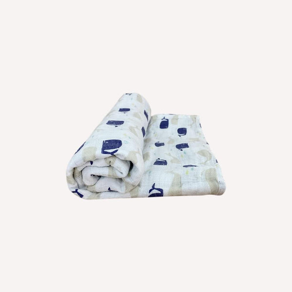 Aden + Anais Blankets OS / Like New Re-Cycle Patterned White Swaddle Blanket