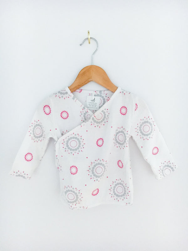 Aden + Anais Tops + Bodysuits 6-9m / Like New Re-Cycle Mandala Kimono Cardigan