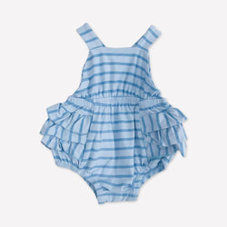 Alice + Ames Romper 3-6m / Like New Re-Cycle Striped Blue Romper