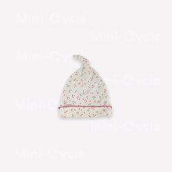 Auggie Baby Hat 3-6m / Like New Re-Cycle Patterned White Baby Hat
