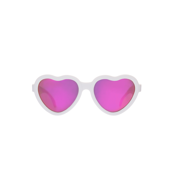 Babiators Sunglasses Sunglasses - The Sweetheart - Wicked White/Polarized Pink