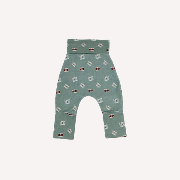 Bajoue Harem 0-12m / Like New Re-Cycle Patterned Green Harem Pants