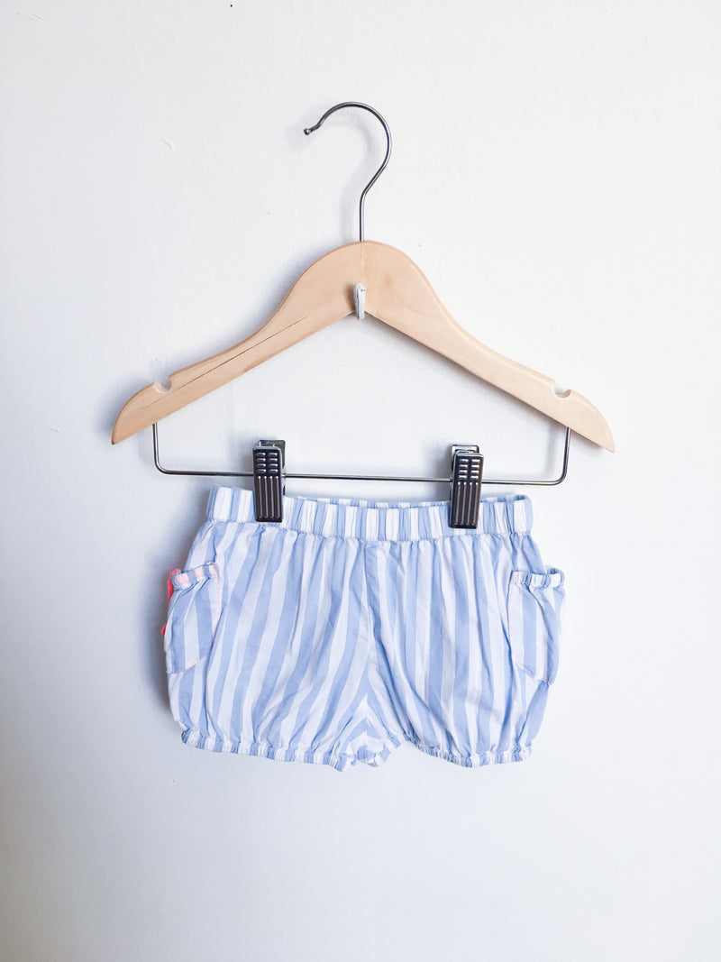 Billieblush Bottoms 9m / Gently Used Re-Cycle Blue and White Stripe Shorts