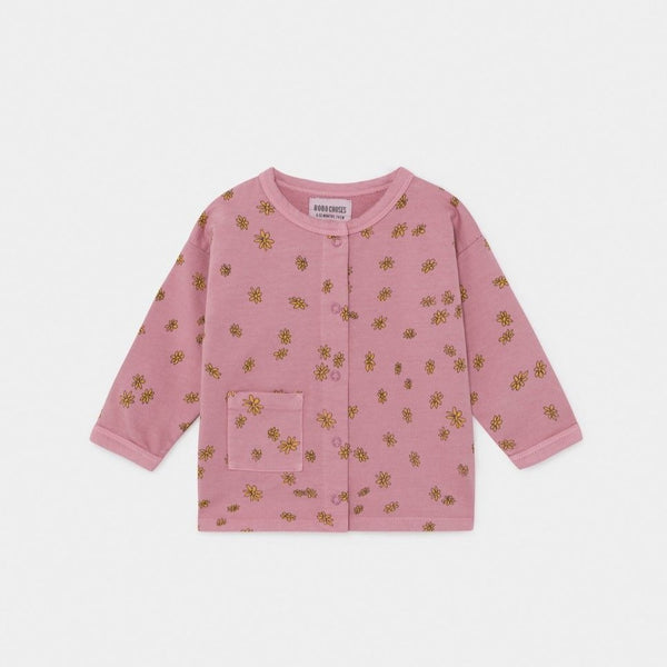 Bobo Choses Sweatshirt All Over Daisy Buttoned Sweatshirt