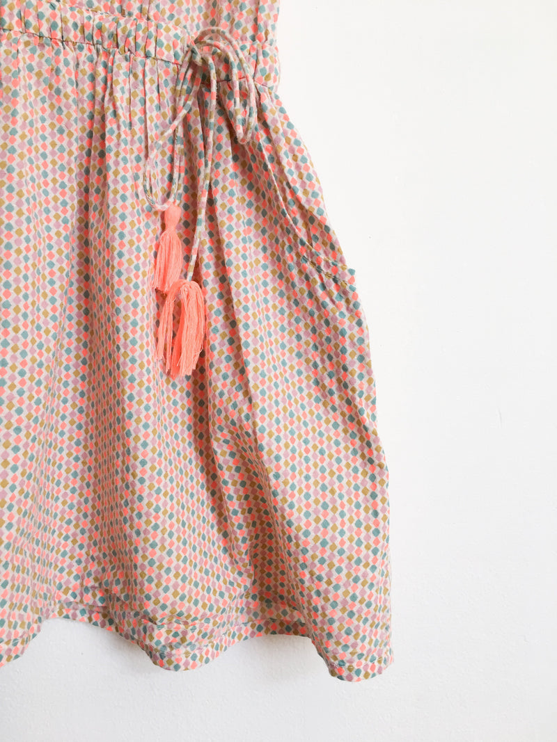 Bonheur du Jour Dresses + Skirts 4y / Gently Used Re-Cycle Patterned Dress