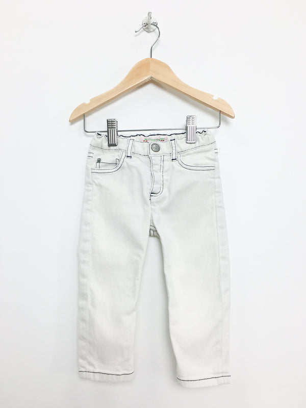 Bonpoint Denim 18m / Gently Used Re-Cycle White Jeans