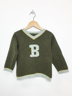 Bonpoint Sweaters 18m / Gently Used Re-Cycle Brown Knitted V-Neck Sweater