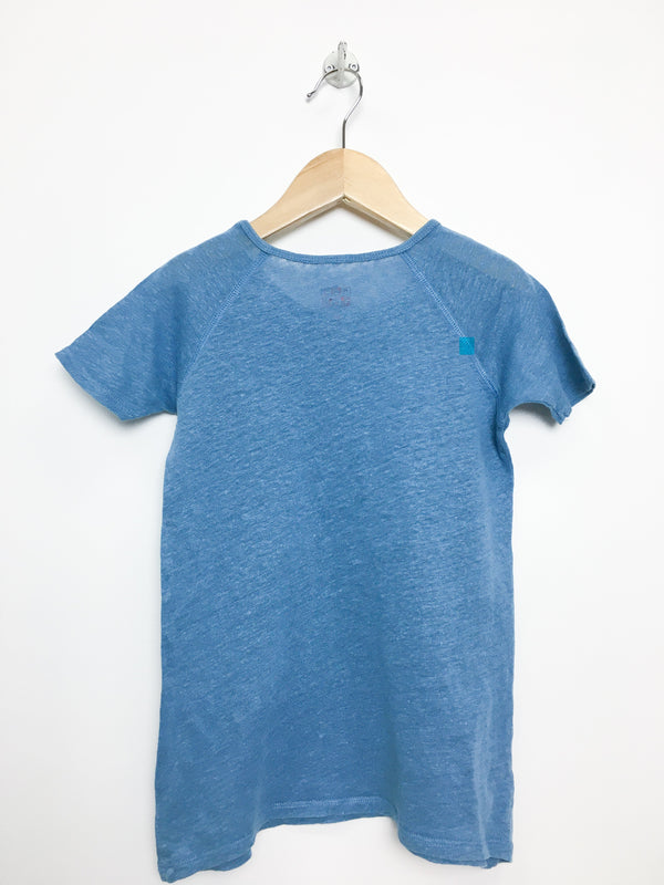 Bonton T-Shirt 6y / Like New Re-Cycle Blue Crew Neck Tee
