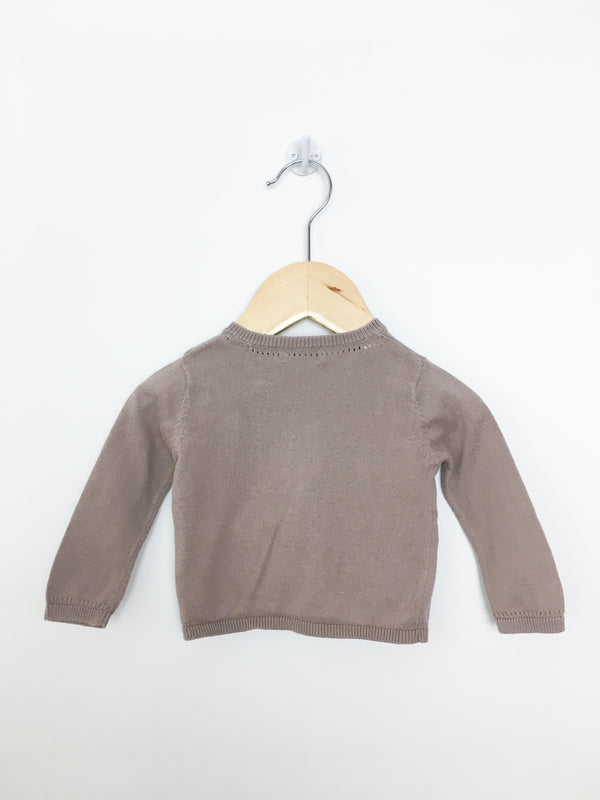 Bout'Chou Cardigan 6m / Preloved Re-Cycle Brown Cardigan Sweater