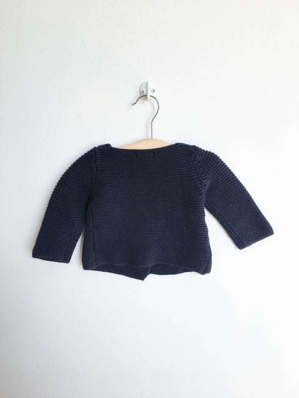 Bout'Chou Sweaters 6m / Gently Used Re-Cycle Navy Knit Sweater