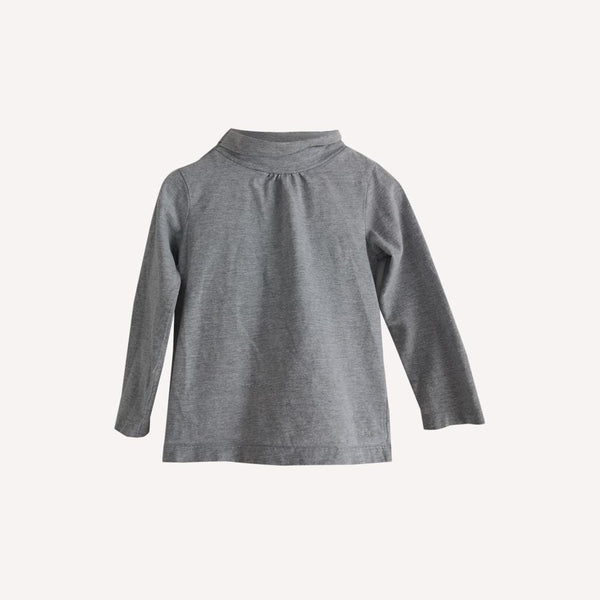 Bout'Chou Turtleneck 36m / Preloved Re-Cycle Solid Grey Turtleneck