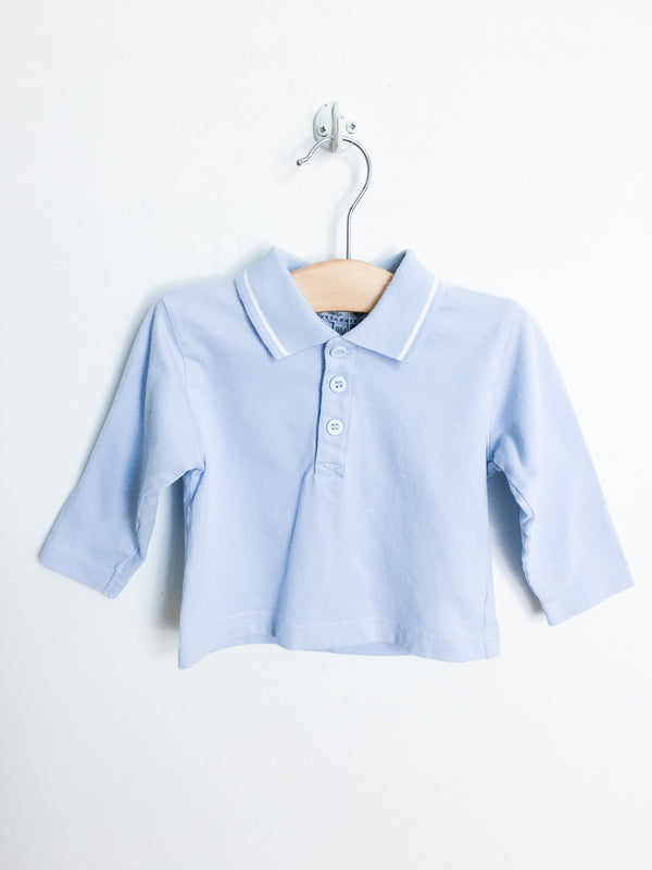 Canari Baby Shirts 9m / Gently Used Re-Cycle Light Blue Shirt