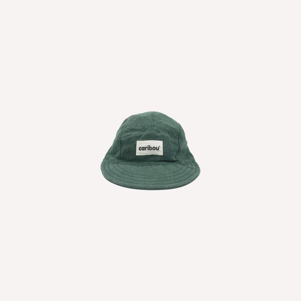 Caribou Cap 1-2y / Like New Re-Cycle 5 Panel Linen Cap - Emerald