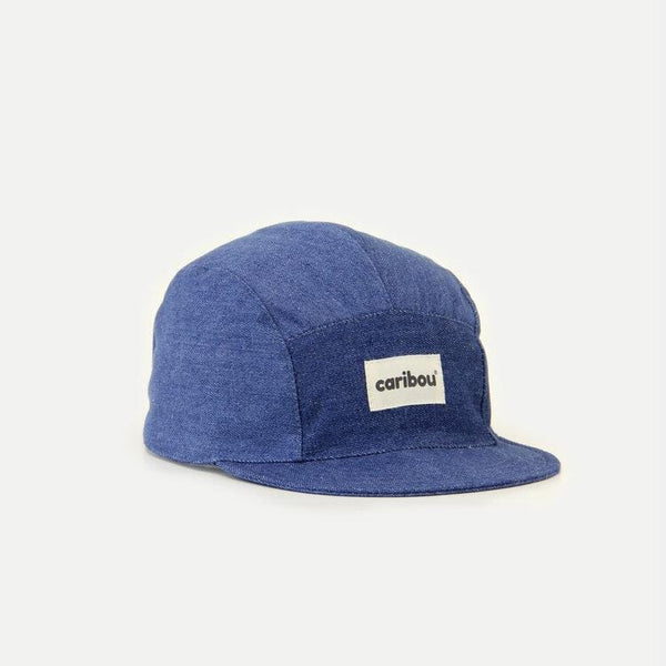 Caribou Hat 5 Panel Linen Cap - Denim / PRE-ORDER