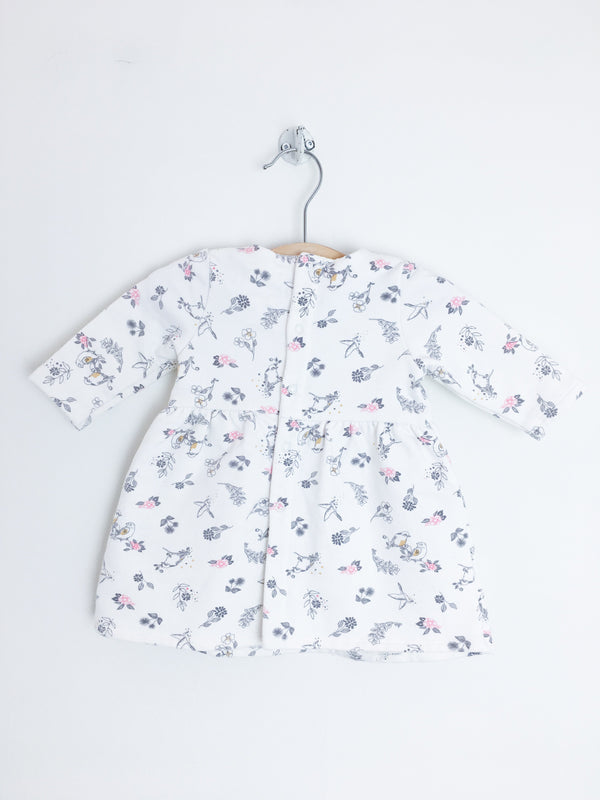 Carrément Beau Dress 1m / Gently Used Re-Cycle Long-Sleeved Bird Baby Dress